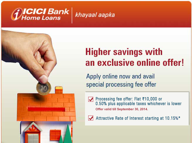 Deals | ICICI Bank Home Loans starting at 10.15% with Inst